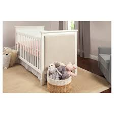 davinci lila 3 in 1 convertible upholstered crib white target