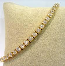 bracelet tennis zirconia images Yellow gold cubic zirconia tennis bracelet b0591 jpg