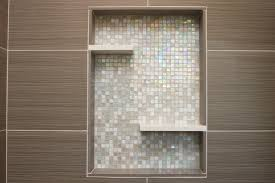 Niche Bathroom Shower Shower With Recessed Niche Of Mosaic Glass Tile
