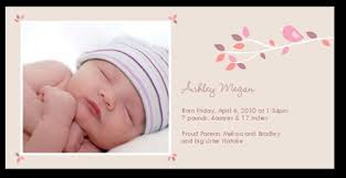 birth announcements branch 4x8 photo baby girl birth announcements shutterfly