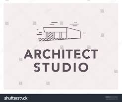 vector flat architect bureau logo design stock vector 666399445
