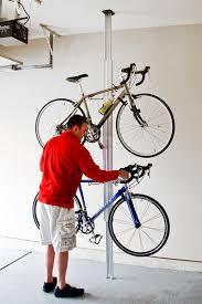 Bicycle Ceiling Hoist by Floor To Ceiling Bike Rack Silver Or Black Storeyourboard Com