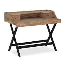 Schreibtisch Schwarz Holz Schreibtisch Mit Aufsatz Günstig Online Kaufen Homy