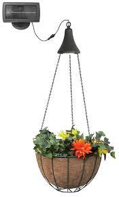 hanging planter basket gama sonic hanging basket with solar light the warming store