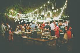 Backyard Wedding Lighting by Backyard Mesa Wedding Ruffled