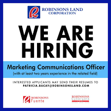 Email For Sending Resume To Hr Robinsons Land Corporation Hr Home Facebook