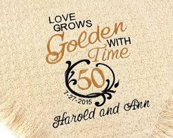 golden wedding anniversary personalized 50th golden wedding anniversary embroidered