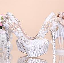 Wedding Shoes Online Uk 2015 New Fashion Crystal Pearl Wedding Shoes Ultra High Heels