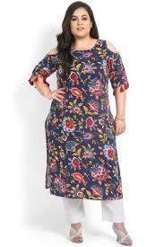 kurti pattern for fat ladies buy plus size tunics plus size kurtis for women in india online