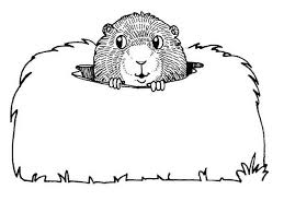 groundhog color holiday coloring pages color plate
