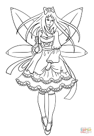 gothic fairy coloring free printable coloring pages