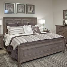 Driftwood Bedroom Furniture Talbot Wood Panel Bed In Driftwood Humble Abode
