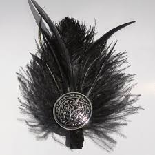 feather hair clip katarina iii black feather hair clip mimi boutique