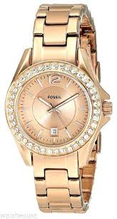 bracelet watches ebay images Ebay womens watch fossil rose gold tone stainless steel with link jpg