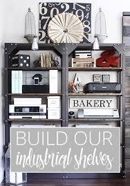 Industrial Bookcase Diy Diy Industrial Wood And Metal Shelves