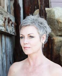 short grey hairstyles for straight thick hair young grey pixie hair google search pinteres