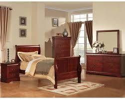 Cherry Bedroom Furniture Acme Furniture Bedroom Set Louis Philippe In Cherry Ac19530tset