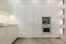 modern handles for white kitchen cabinets modern white kitchen without handles stock photo image now