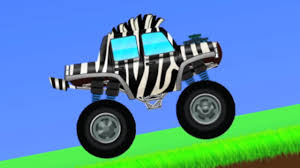 kids monster truck video zebra monster truck animal truck video for kids u0026 toddlers