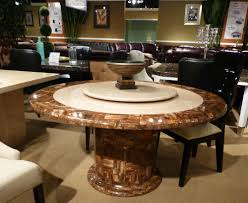 Round Dining Table For 8 With Lazy Susan Dining Room Granite Round Dining Table On Dining Room Inside 20