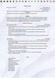 Sample Resume Of Security Guard by Security Guard Resume Example For Microsoft Word Doc