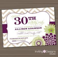 decorative striking birthday party invitations for 30th birthday