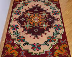 Colorful Kilim Rug Moldovan Kilim Etsy