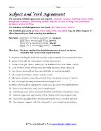 subject verb worksheets free worksheets library download and