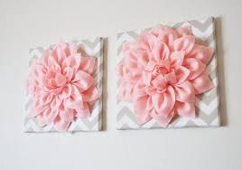 Wall Flower Decor by Pink Girly Feminine Bedroom Pink Walls Decor Pink Bedding Pillows