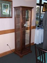curio cabinet antique mission oak curved glass front curio