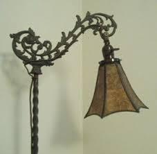 Vintage Retro Black Color Long Arm Fishing Metal Floor Antique Bridge Lamps Foter