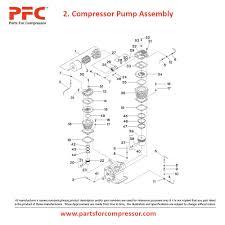 08 02 compressor pump assembly for 2545 ir 2545 parts