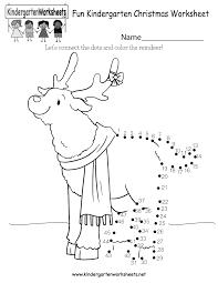 free printable fun christmas worksheet for kindergarten