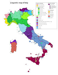 Blank Map Of Italy by Linguistic Map Of Italy Maps Pinterest Italy Language And