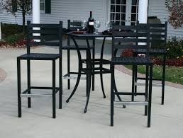 Aluminium Bar Table Patio Ideas Ansley Luxury 4 Person All Welded Cast Aluminum