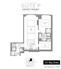 floor plans st regis residences toronto 1 bed 2 bath n view 1445 sq ft