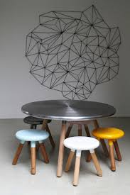 dining room stools cool and funny round dining table and stool design spun by justin