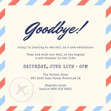 farewell party invitation templates canva