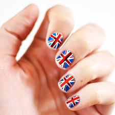 tutorial nail art one direction british flag nail art ledufa com