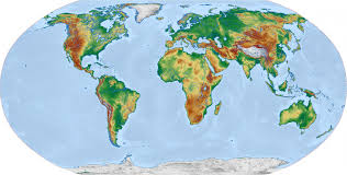 Earth World Map by Physical World Map Robinson Free Stock Photo Public Domain Pictures