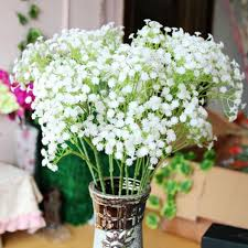 baby s breath flowers artificial baby s breath gypsophila silk 27 flowers bouquet