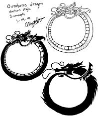 tribal chinese dragon tattoos ouroboros dragon tattoos by queenmari on deviantart