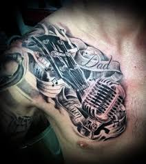 guitar tattoos for men pictures to pin on pinterest tattooskid