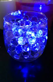 clear water beads with blue led submersible tea light really