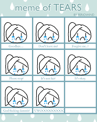 Tears Meme - meme of tears by mareena san on deviantart