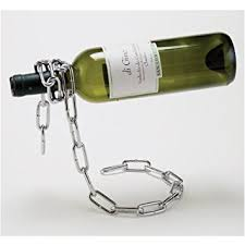 1 x chain wine bottle holder wine racks