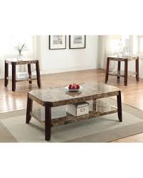 faux marble coffee table amazing shopping savings dacia brown faux marble coffee table faux