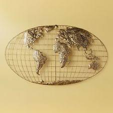Decorative World Map World Map Metal Wall Art Ebay