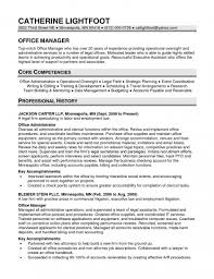 Resume Core Qualifications Examples by Office Manager Resume Examples