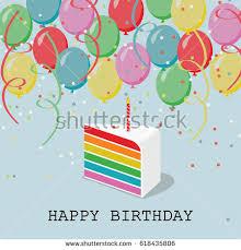 happy birthday greeting card balloons confetti stock vector